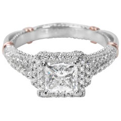 GIA Certified Veragio Diamond Engagement Ring in Two-Toned Gold 1.38 Carat