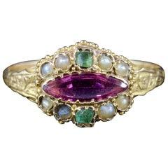 Antique Victorian Suffragette Ring 15 Carat Gold, circa 1900
