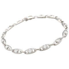 14 Karat White Gold 2.25 Carat Diamond Tennis Bracelet