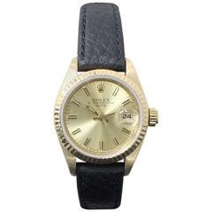 Rolex Ladies Date 69178 18 Karat Yellow Gold