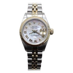 Rolex Ladies Datejust 69173 18 Karat Yellow Gold and Stainless Steel MOP Dial
