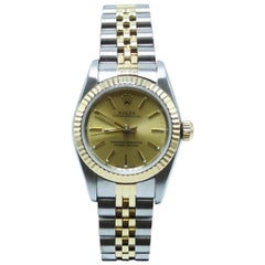 Rolex Ladies Oyster Perpetual 76193 18 Karat Gold and Stainless Steel Box Paper