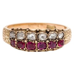 Georgian Ruby and Diamond Ring, Yellow Gold
