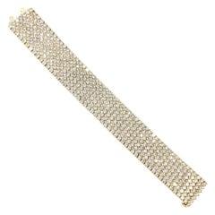 Wide Diamond Bracelet 37.50 Carat 18 Karat Yellow Gold