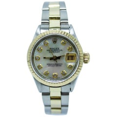 Rolex Ladies Datejust 6516 MOP Diamond Dial 18K Yellow Gold, Stainless Steel