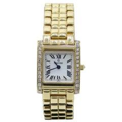 Concord La Tour Ladies Watch 14 Karat Yellow Gold Diamond Bezel Box & Papers