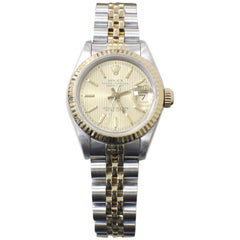 Rolex Ladies Datejust 69173 18 Karat Gold and Stainless Steel Box and Papers