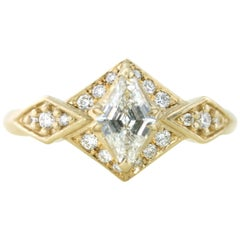 Aimee Kennedy .53 Carat Canadian Diamond Hexagon Halo Ring