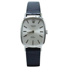 Rolex Cellini Reference 4111 18 Karat White Gold Silver Dial