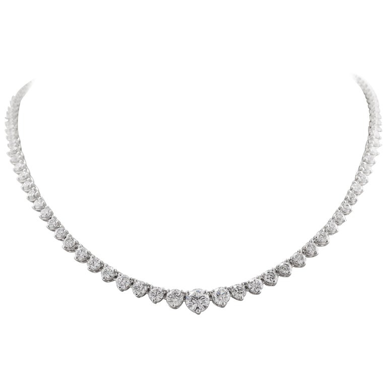 Riviera Graduated Diamond Necklace 12.00 Carat Total Weight