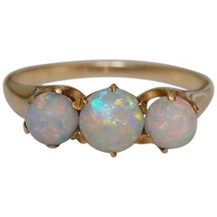 Victorian 18 Carat Gold and Opal Trilogy Ring