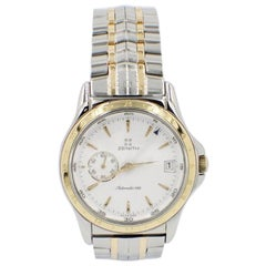 Zenith Elite Ref 53 0030 682 18 Karat Gold and Stainless Steel Box and Papers