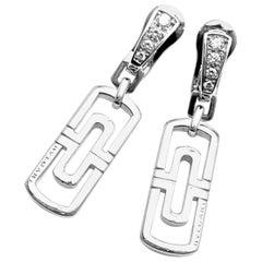 Bulgari Parentesi Diamond White Gold Drop Earrings