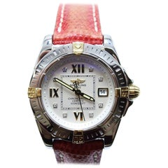 Breitling B71356 Ladies Cockpit Diamond Dial Stainless & 18K Box & Papers