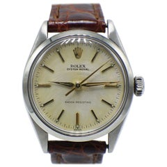 Vintage Rolex Oyster Royal 6444 Stainless Steel Midsize Very Rare