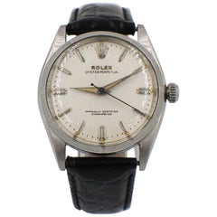 Vintage Rolex Oyster Perpetual 6565 Stainless Steel Engine Turned Bezel