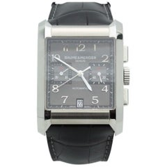Baume & Mercier Hampton Rectangular 10030 Stainless Men's Watch Box and Papers