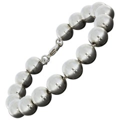 Tiffany & Co. Hardwear Sterling Silver Bead Ball Bracelet