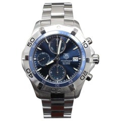 Tag Heuer 2000 Aquaracer Blue Chronograph Stainless Steel w/Card CAF2112.BA0809
