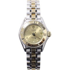 Rolex Tudor 15853 Ladies Monarch II 14 Karat Yellow Gold and Stainless Steel