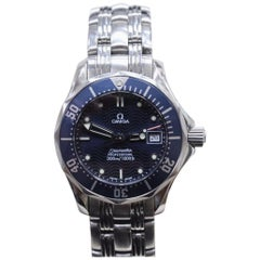 Ladies Omega Seamaster Professional 2583.80 Stainless Steel Blue Dial Watch