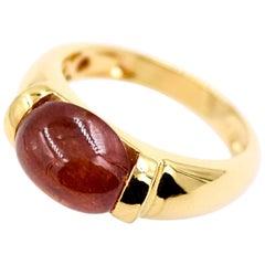 Kanwar Creations Spessartite Ring in 18 Karat Yellow Gold