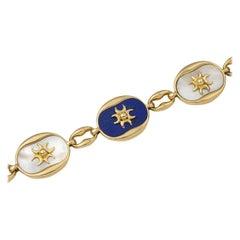 Cartier Paris Lapis Lazuli and Mother of Pearl Bracelet