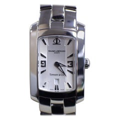 Baume & Mercier Ladies Watch Hampton 65511 Tiffany & Co. Stainless Steel