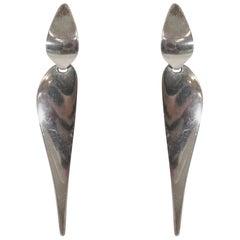 Modernist Drop Earrings by Nanna Ditzel for Georg Jensen, 1970s