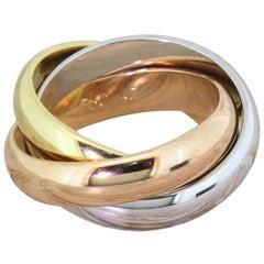 Cartier 18 Karat Gold Trinity Ring