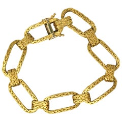 Retro Unoaerre 18 Karat Yellow Gold Link Bracelet