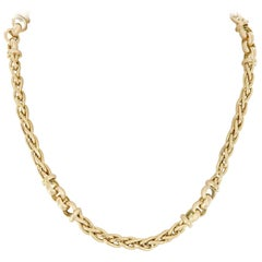Vergano Woven Link Yellow Gold Necklace