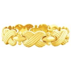 Italian 1970s Gold Bracelet