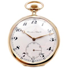IWC International Watch Company Yellow Gold Large Pocket Watch