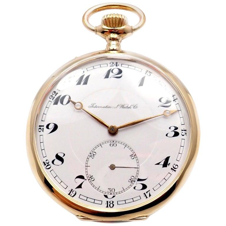 IWC International Watch Company Yellow Gold Large Pocket Watch