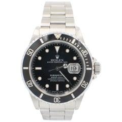Rolex Submariner 16610 Stainless Steel Black Dial