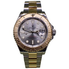 Rolex Yacht Master 16623 Grey Dial 18K Yellow Gold & Stainless Steel Box & Paper