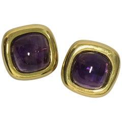 Cabochen Amethyst Earrings