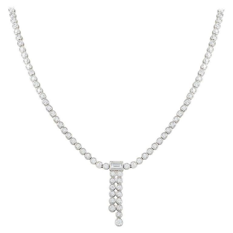 Tiffany & Co. Platinum Diamond Jazz Necklace 5.70 Carat