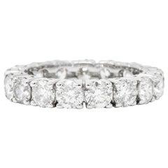 Contemporary 3.75 Carat Diamond 14 Karat White Gold Eternity Band