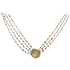 Anthony Nak Lemon Citrine Multi-Chain Necklace