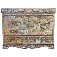 Vintage Asian Mother-of-Pearl Jewelry Box