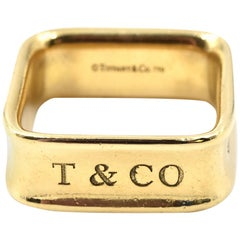 Tiffany & Co. 1837 18 Karat Yellow Gold Square Ring