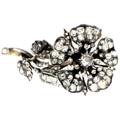 Antique Diamond Brooch, 1860s