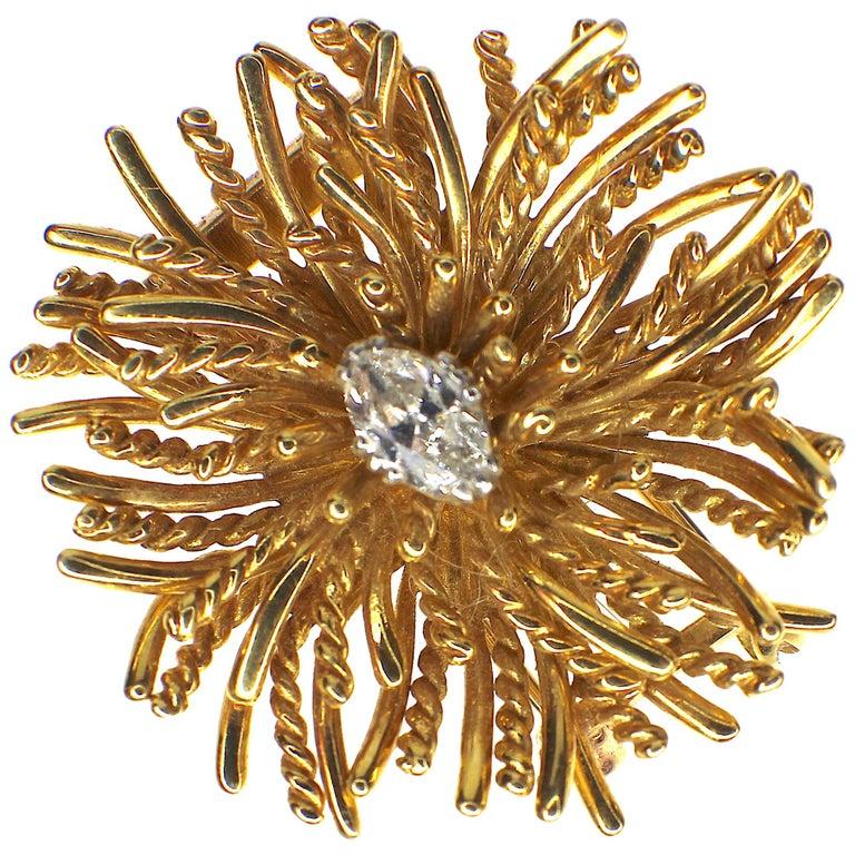 Tiffany & Co. Diamond Brooch, 1960s