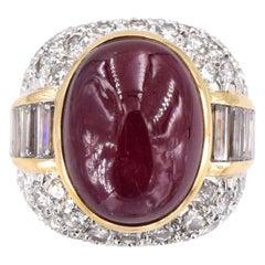 David Webb Ruby and Diamond Ring
