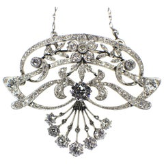 Belle Epoque Diamond Pendant, 1900s