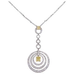 "Graff Fancy Yellow Diamond  ""Bullseye"" Necklace"
