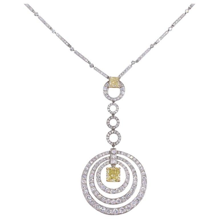 "Graff Fancy Yellow Diamond  ""Bullseye"" Necklace"