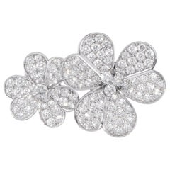 Van Cleef & Arpels Frivole between the Finger Ring, White Gold and Diamond
